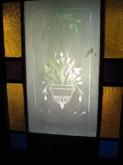 Front Door with etching